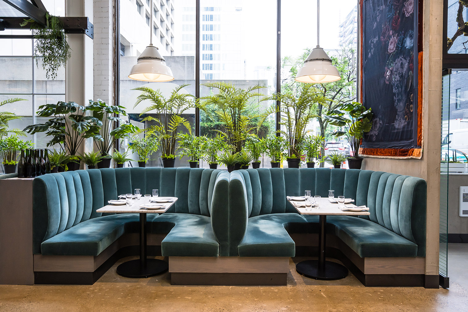 Design duo Brenda Bent and Karen Gable took inspiration from ruin porn for the interiors of Toronto restaurant Rosalinda