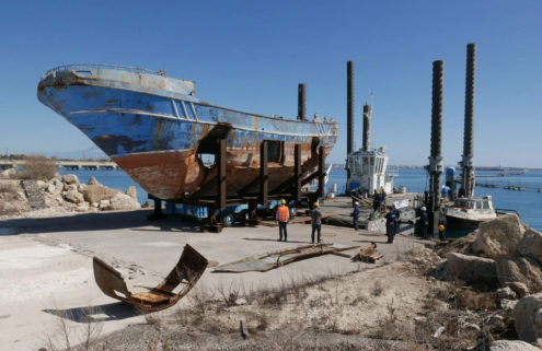 A shipwreck with a tragic past has arrived at Venice Biennale