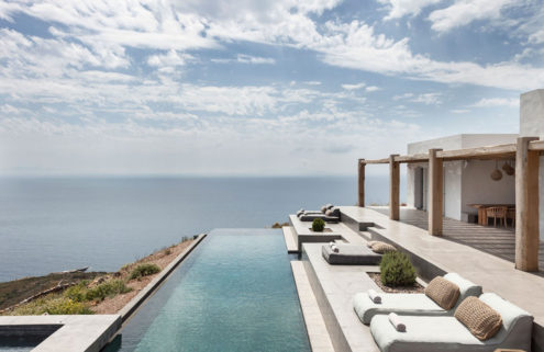 Contemporary Cycladic living on the Greek island of Syros