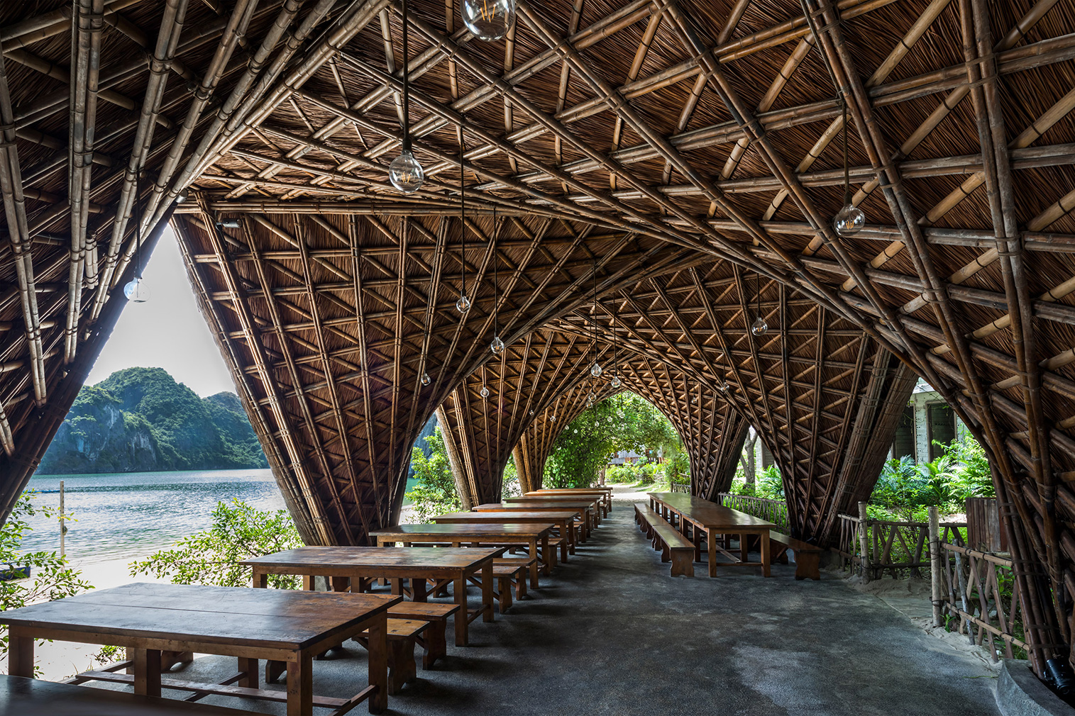Vietnam's Castaway Island Resort is built from bamboo