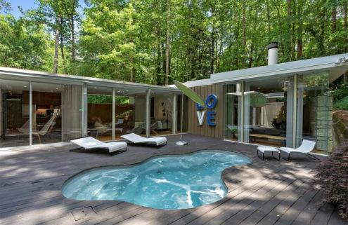 Frank Lloyd Wright-inspired Atlanta home hits the market for $1.41 million