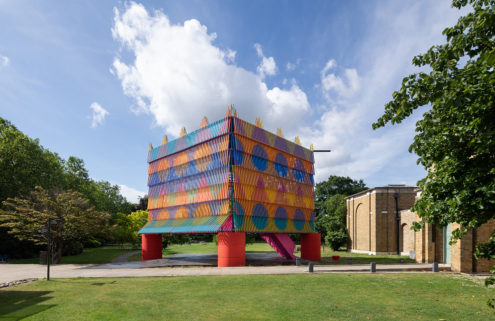 London's Dulwich Pavilion is a colourful 'party hat'