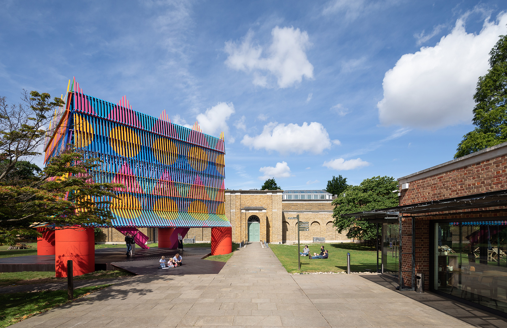 London's Dulwich Pavilion is a colourful 'party hat' in London