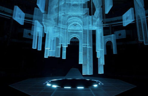Eduardo Tresoldi creates a ghostly set for Marcelo Burlon's County of Milan SS20 menswear show