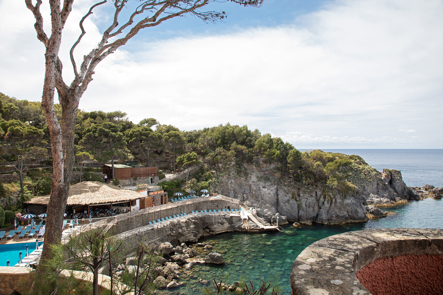 Il Mezzatorre hotel has both outdoor and indoor pools, and a beach club