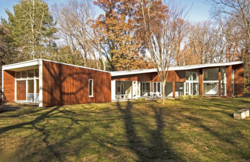 Marcel Breuer's Lauck House is for sale following restoration