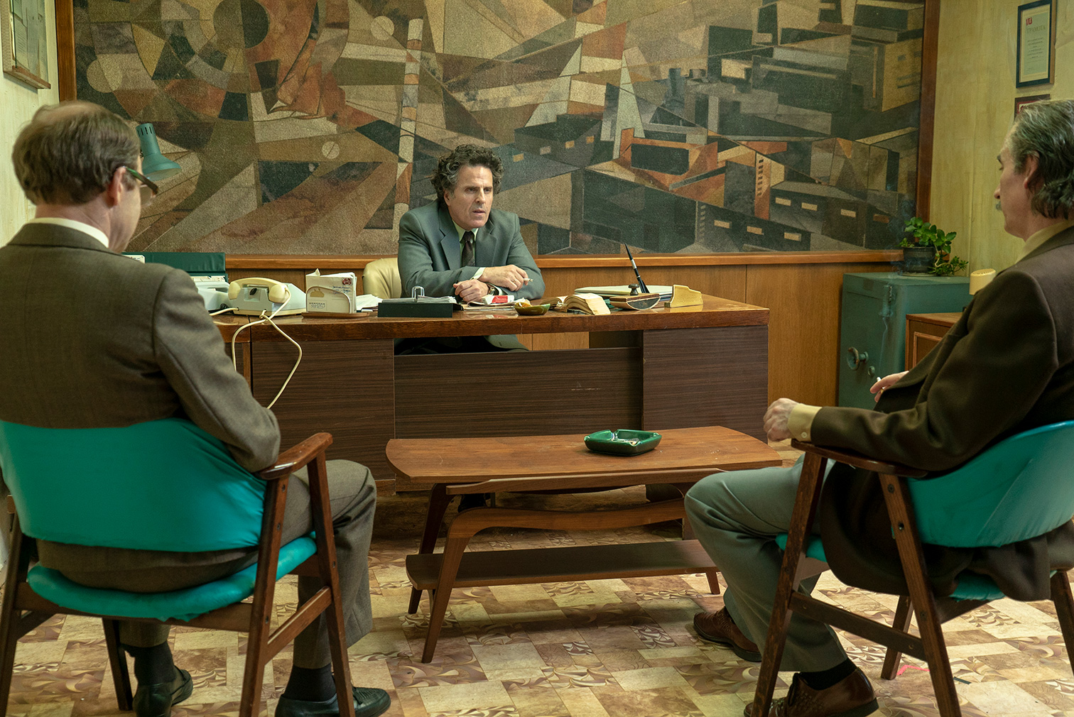 Chernobyl's interior sets evoke the 1980s with myriad clashing patterns and somber tones