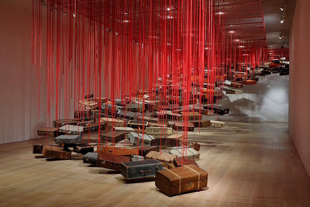 Shiota Chiharu, 'Accumulation - Searching for the Destination', 2014/2019. Courtesy Galerie Templon, Paris/Brussels. Installation view: Shiota Chiharu: The Soul Trembles, Mori Art Museum, Tokyo, 2019. Photography: Kioku Keizo