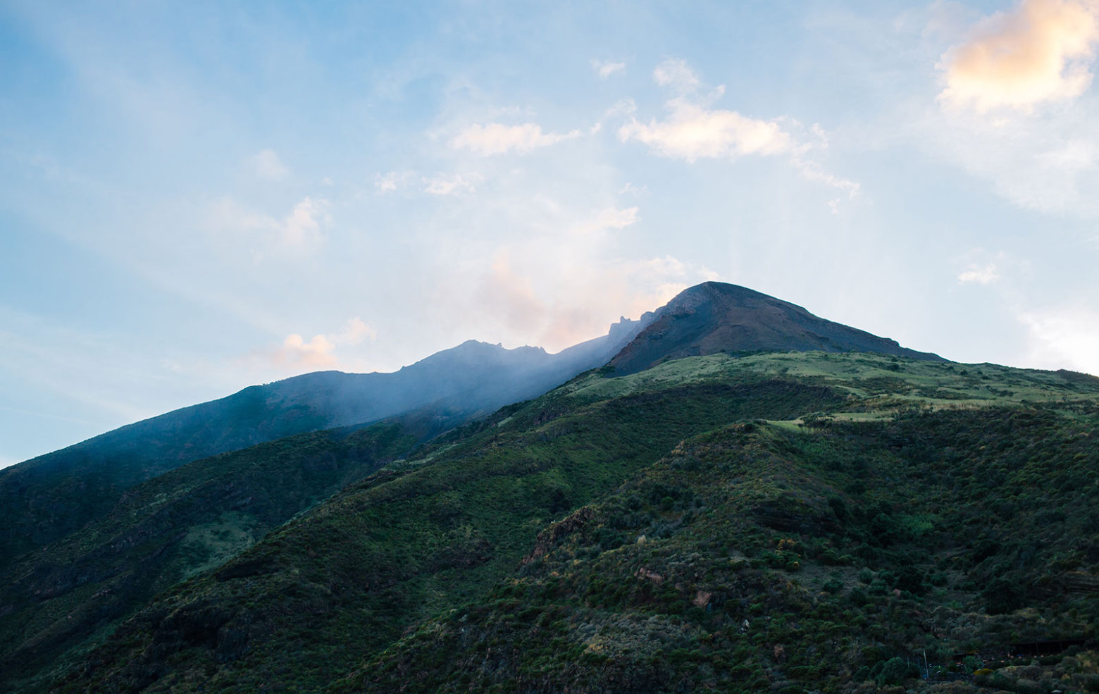 Stromboli's active volcano. Photography: Michael Wilkin