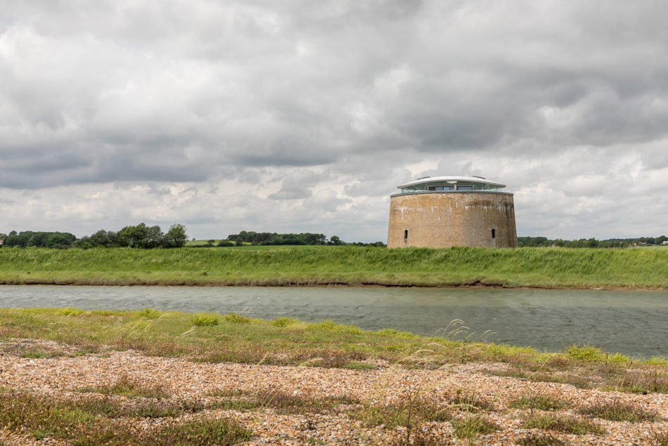 An award-winning converted Martello tower is for sale on the Suffolk coast