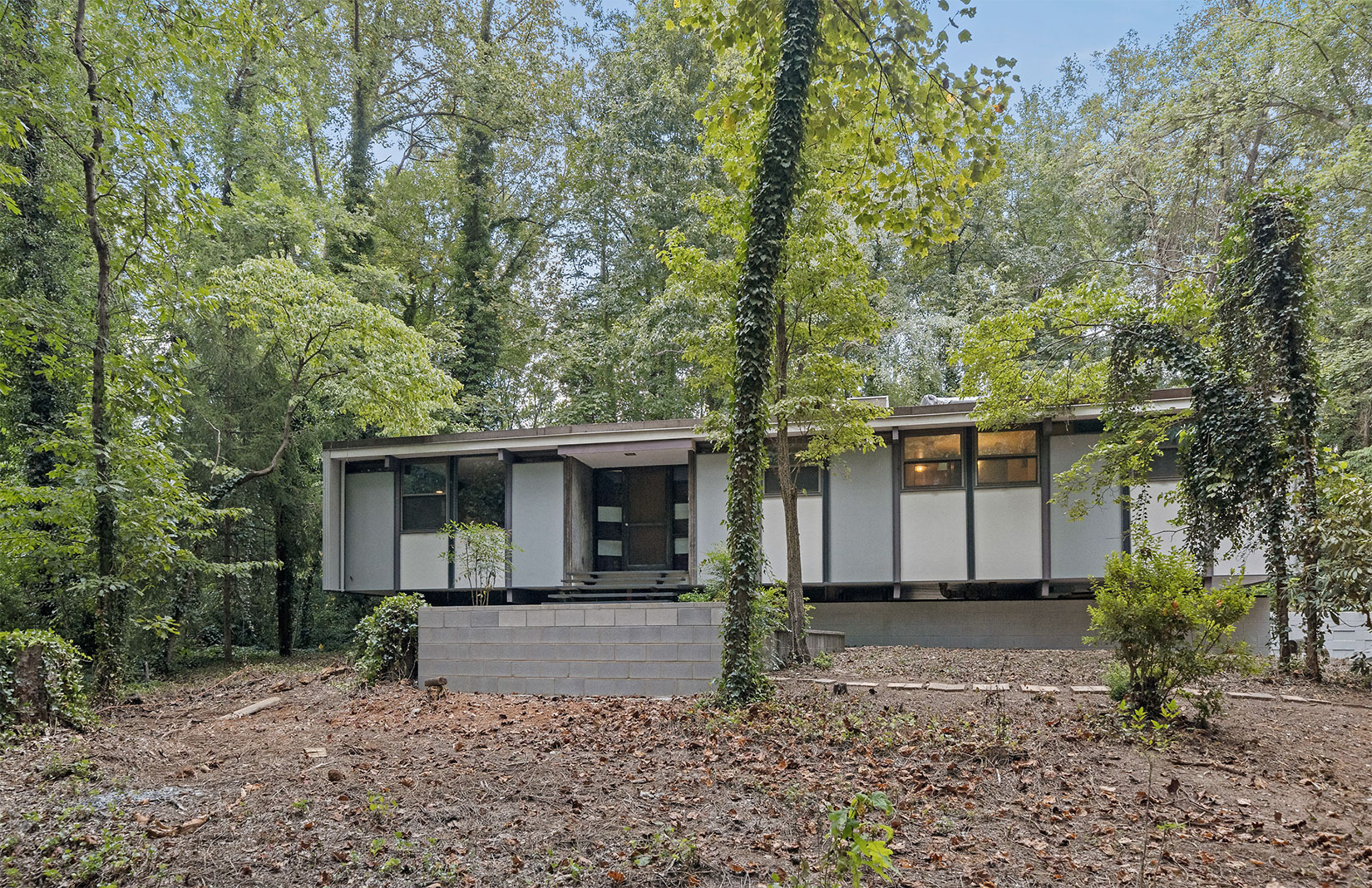 An architect's midcentury home lists in the foothills of the Appalachian Mountains