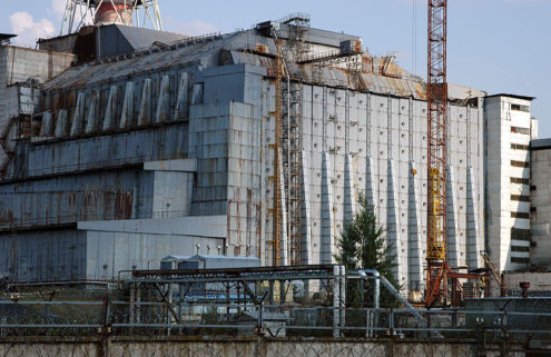 Part of Chernobyl's nuclear power plant site is being dismantled