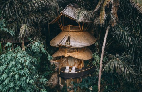 A playful bamboo treehouse is for rent in Indonesia
