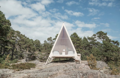 Nolla A-frame cabin lets you live off-grid in Helsinki