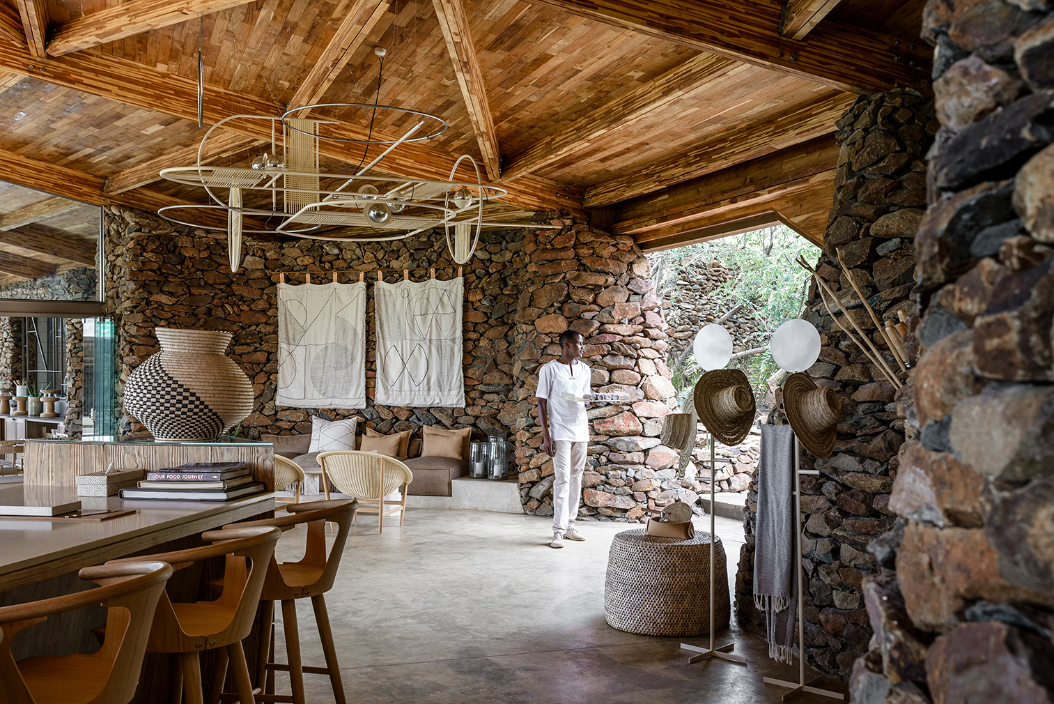 Singita's lounge. Photography: Adriaan Louw