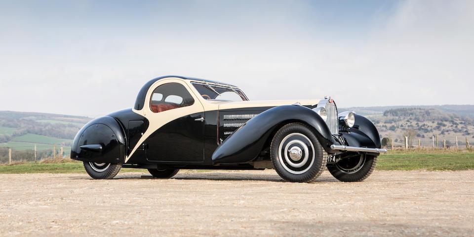 1935 Bugatti Type 57 Atalante Faux Cabriolet. Courtesy Bonhams