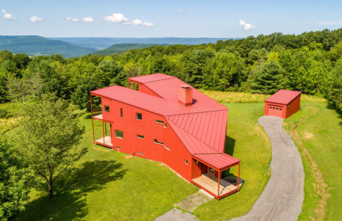 Steven Holl's Y House is for sale in the Catskills