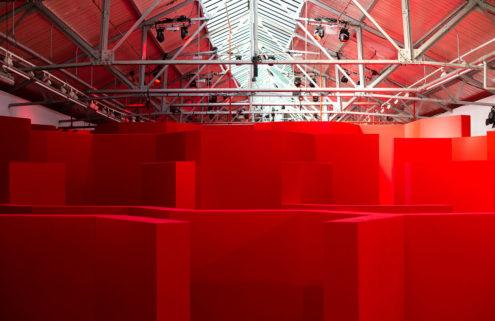 Designer Anya Hindmarch lays a maze for London Fashion Week