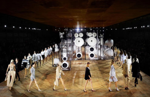 Burberry created a carbon-neutral set for its SS20 show