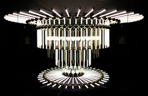 Lighting designer Lee Broom creates an optical illusion inside his Shoreditch showroom