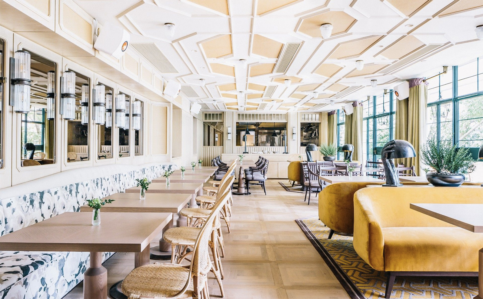 The Franco-tropical interiors of new Hong Kong restaurant Louise