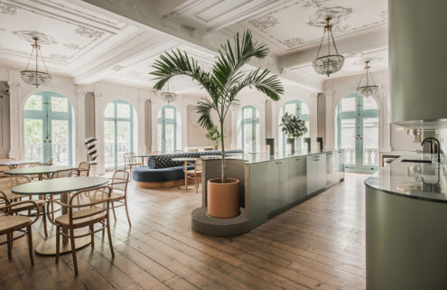 MI6's former London HQ has been turned into a mint-coloured coworking space