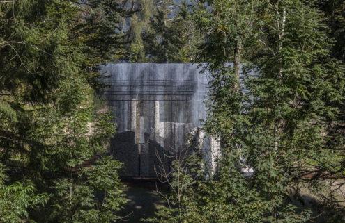 Edoardo Tresoldi builds a spectral ruin at Italy's Arte Sella museum