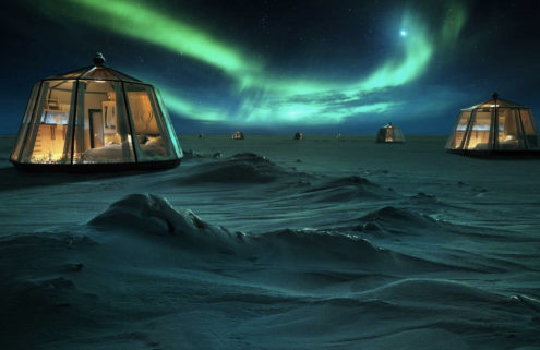 The world's northernmost hotel is opening atop an Arctic glacier