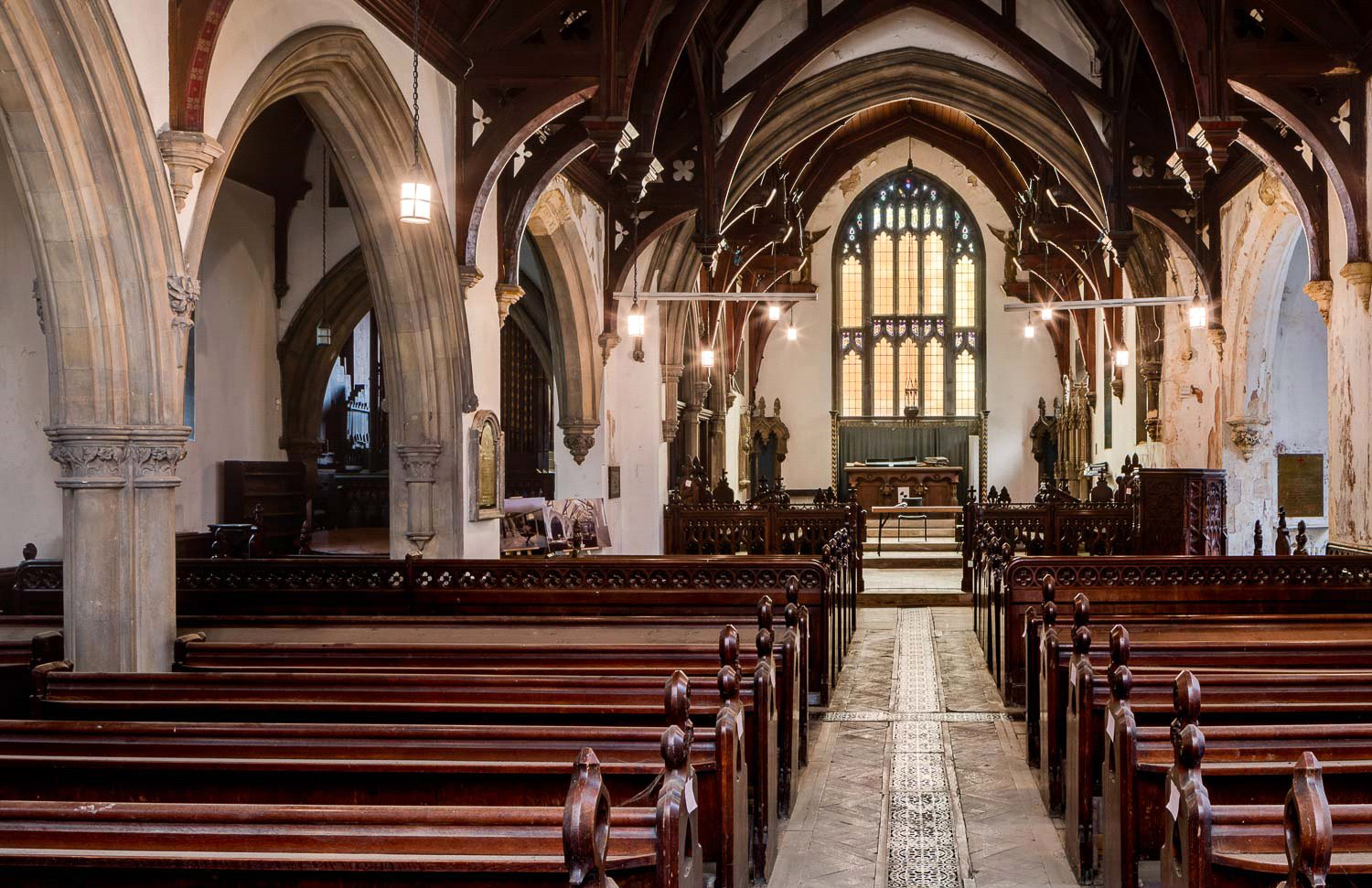 Interiors of St Luke's chapel – a defunct church in Chelsea ripe for conversion