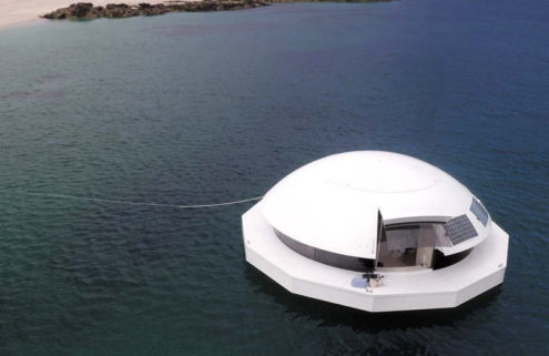 A James Bond-inspired floating home hits the market for $480k