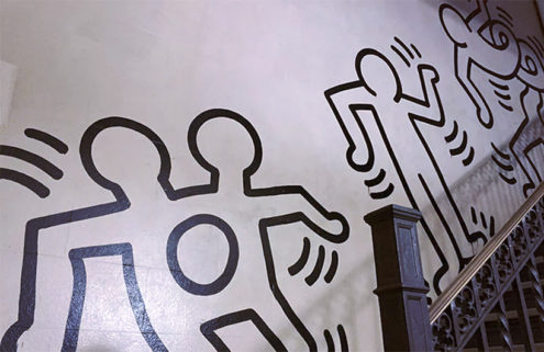 An 85-ft-long Keith Haring mural heads for auction after being chiselled from a wall