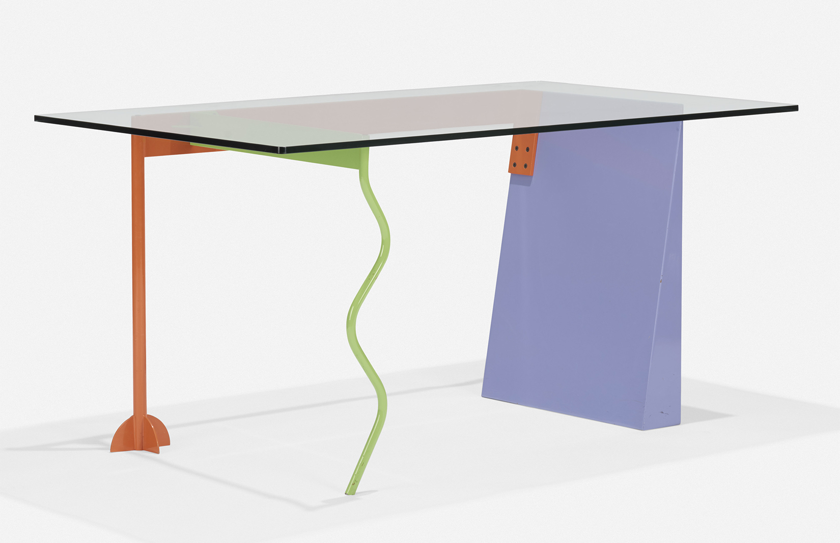 Lot 116. Peninsula table by Peter Shire, estimate: $2,000–3,000