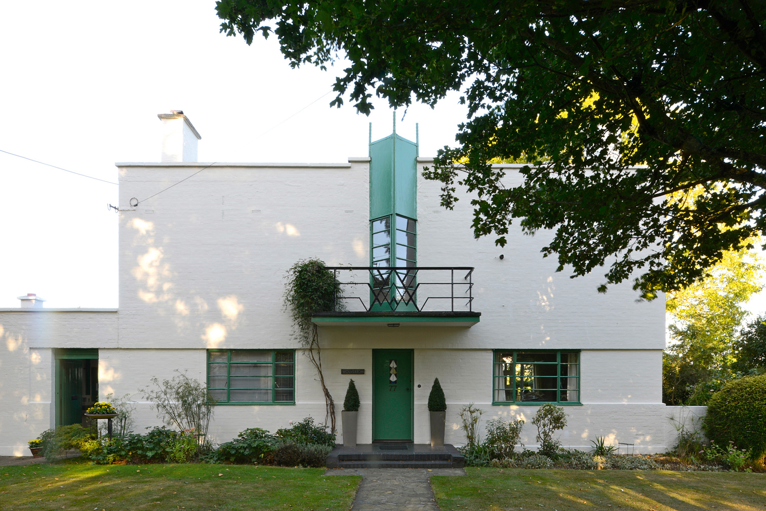Wolverton House in Essex by architects Thomas Tait and Frederick McManus (1927). Photography: Elain Harwood (c) 2019