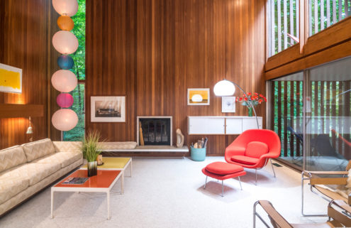 An architect's midcentury Michigan home lists for the first time ever