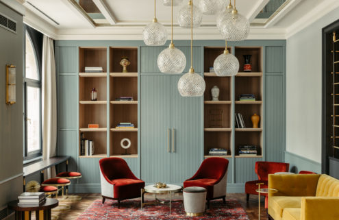 This Frankfurt hotel marries Wilhelmine and midcentury details