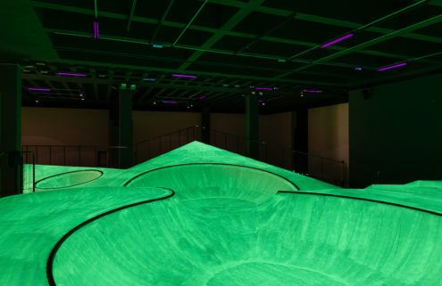 La Triennale di Milano is now home to a glow-in-the-dark skatepark