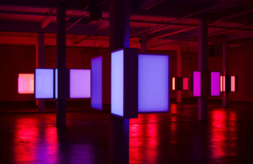Phillip K Smith III's 10 Columns installation is a neon sci-fi trip