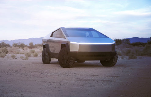 Tesla's new Cybertruck looks like a Mars Rover