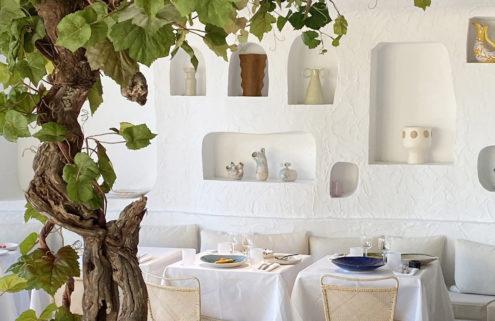 Simon Porte Jacquemus designs Paris restaurant Oursin