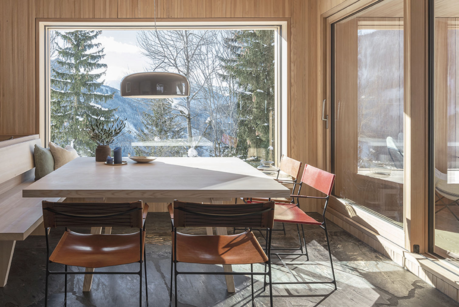 Interiors of Turmhaus Tirol in the Tyrolean Alps