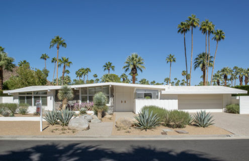 One of Palm Springs' classic Alexander Construction homes has listed for $1.8m