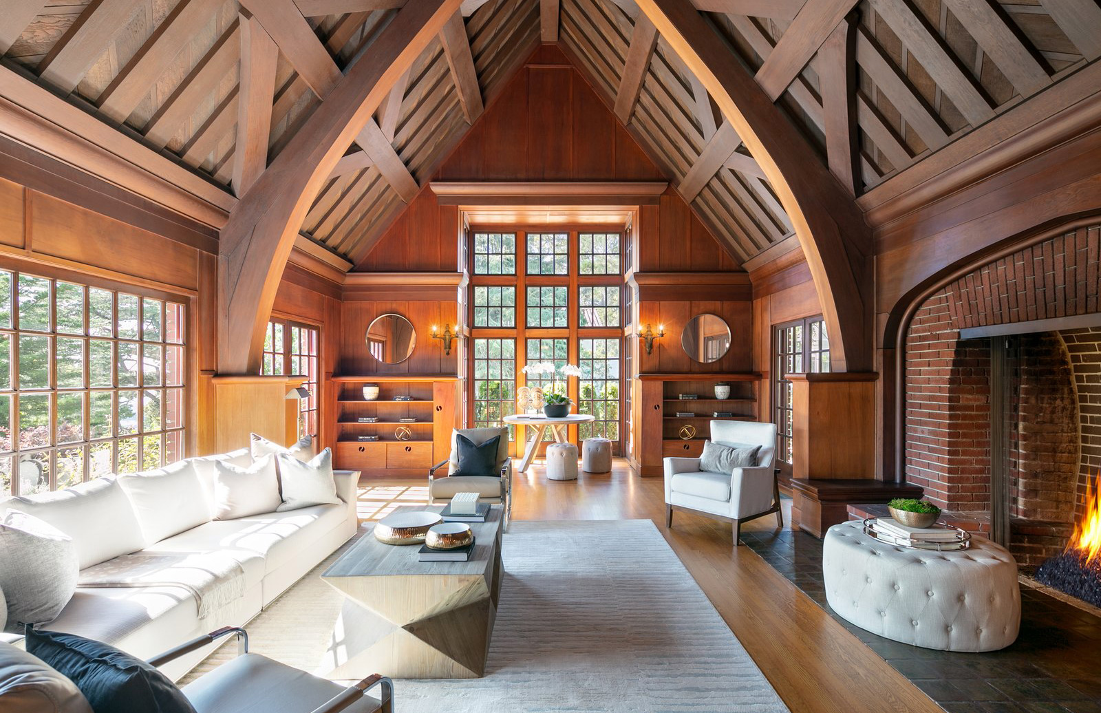 Ornate Californian Arts and Crafts barn by Bernard Maybeck hits the market