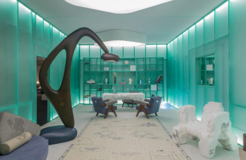 Daniel Arsham recreates his living room at Design Miami