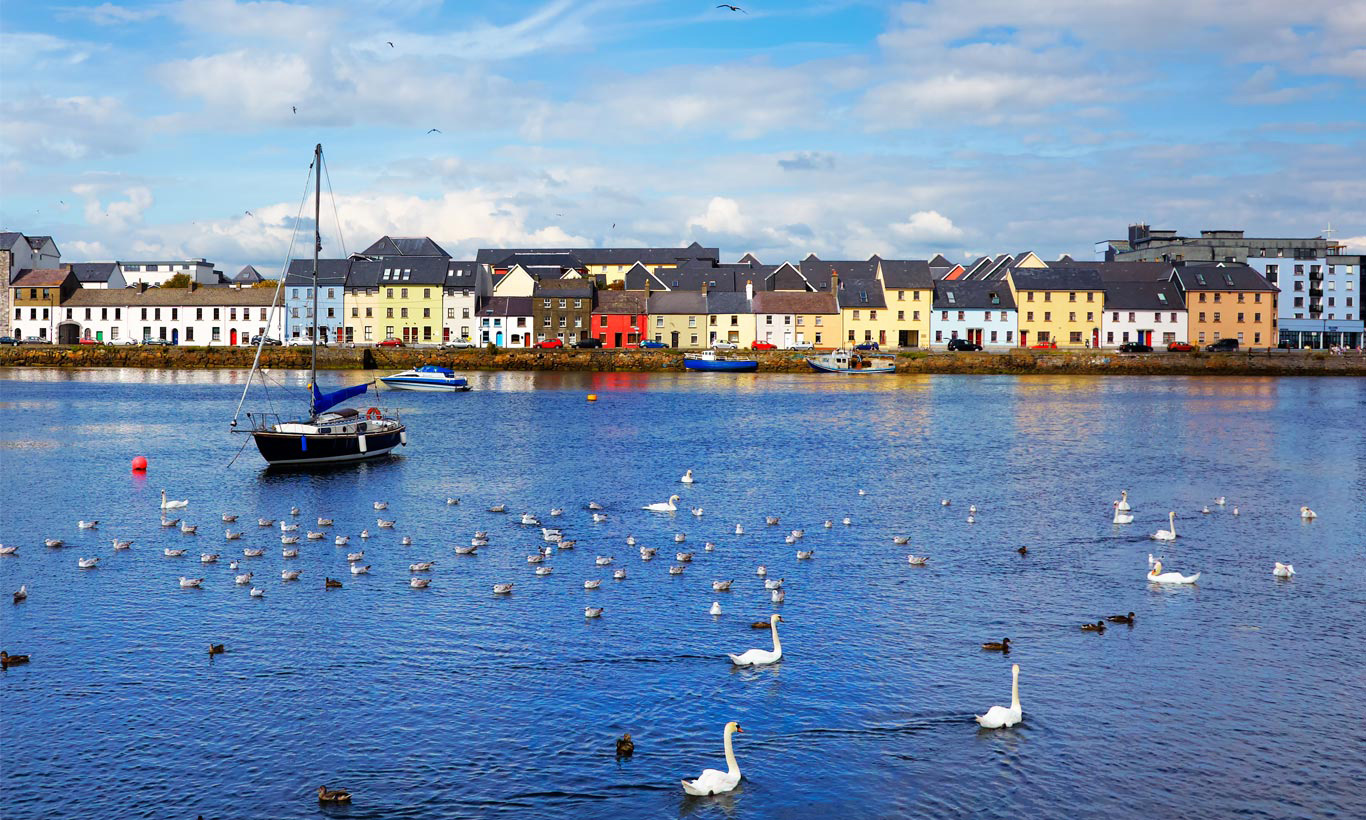 Galway harbourfront. The city has been named 2020 European City of Culture and will host a plethora of events and talks over the next 12 months