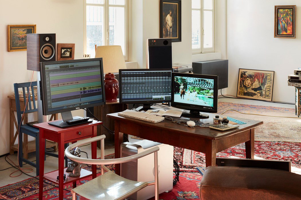 Jean-Luc Godard's office – recreated at Fondazione Prada