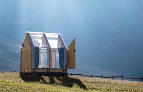 This transparent alpine shack is designed for stargazing