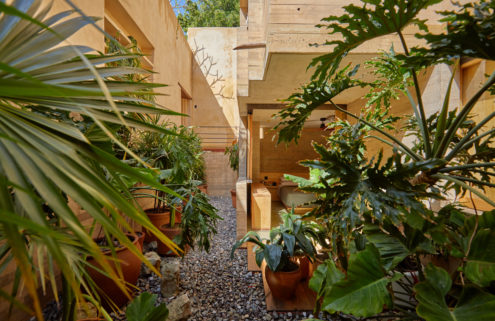 This terracotta-coloured hotel in Oaxaca gives Mexican tradition a gentle update