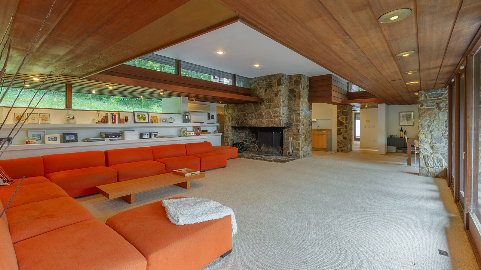 Five bedroom midcentury modern home by architect Allan J Gelbin is for sale in Connecticut
