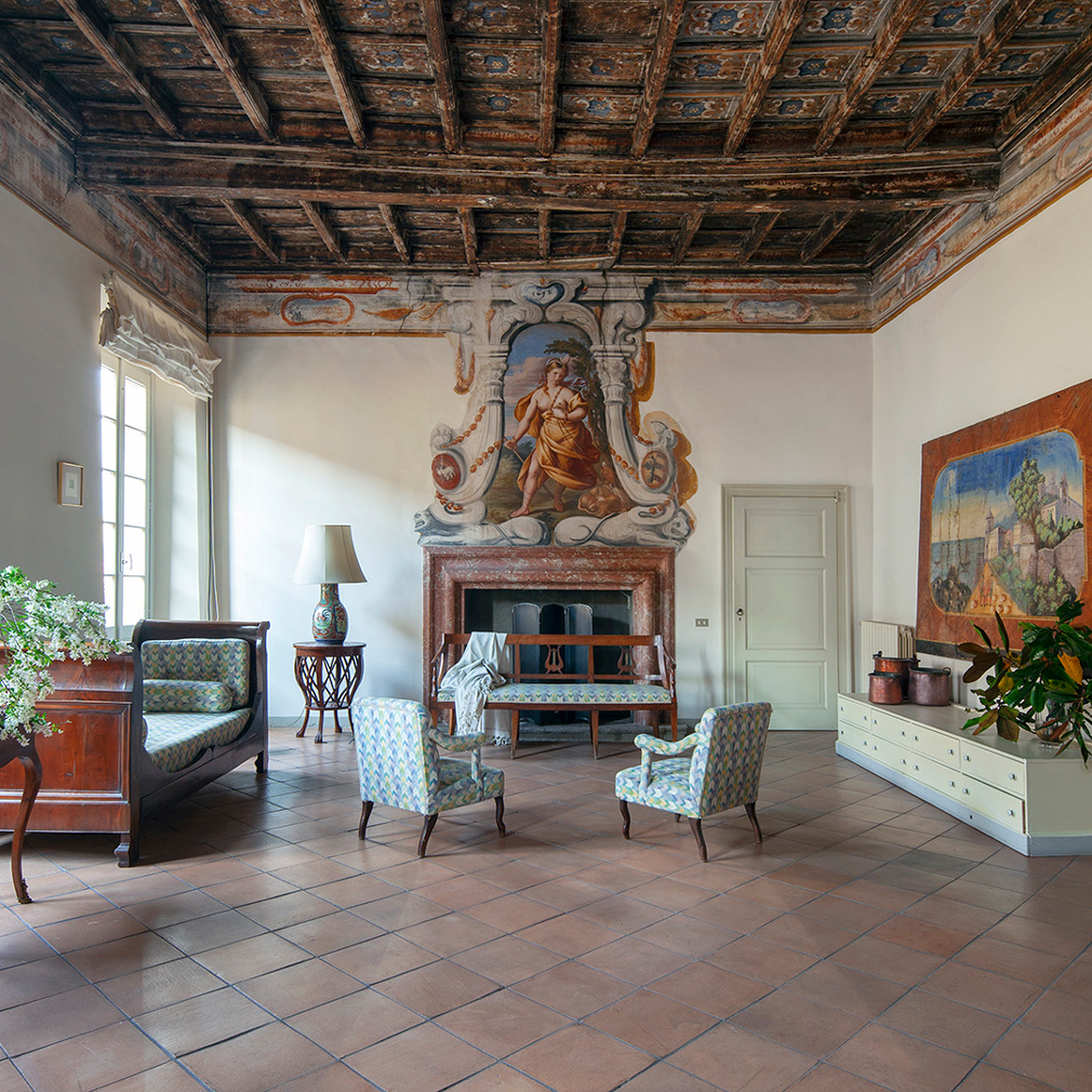 Baroque friezes play a starring role in the new interiors