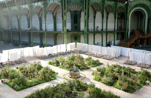 Coco Chanel's childhood garden springs to life inside the Grand Palais